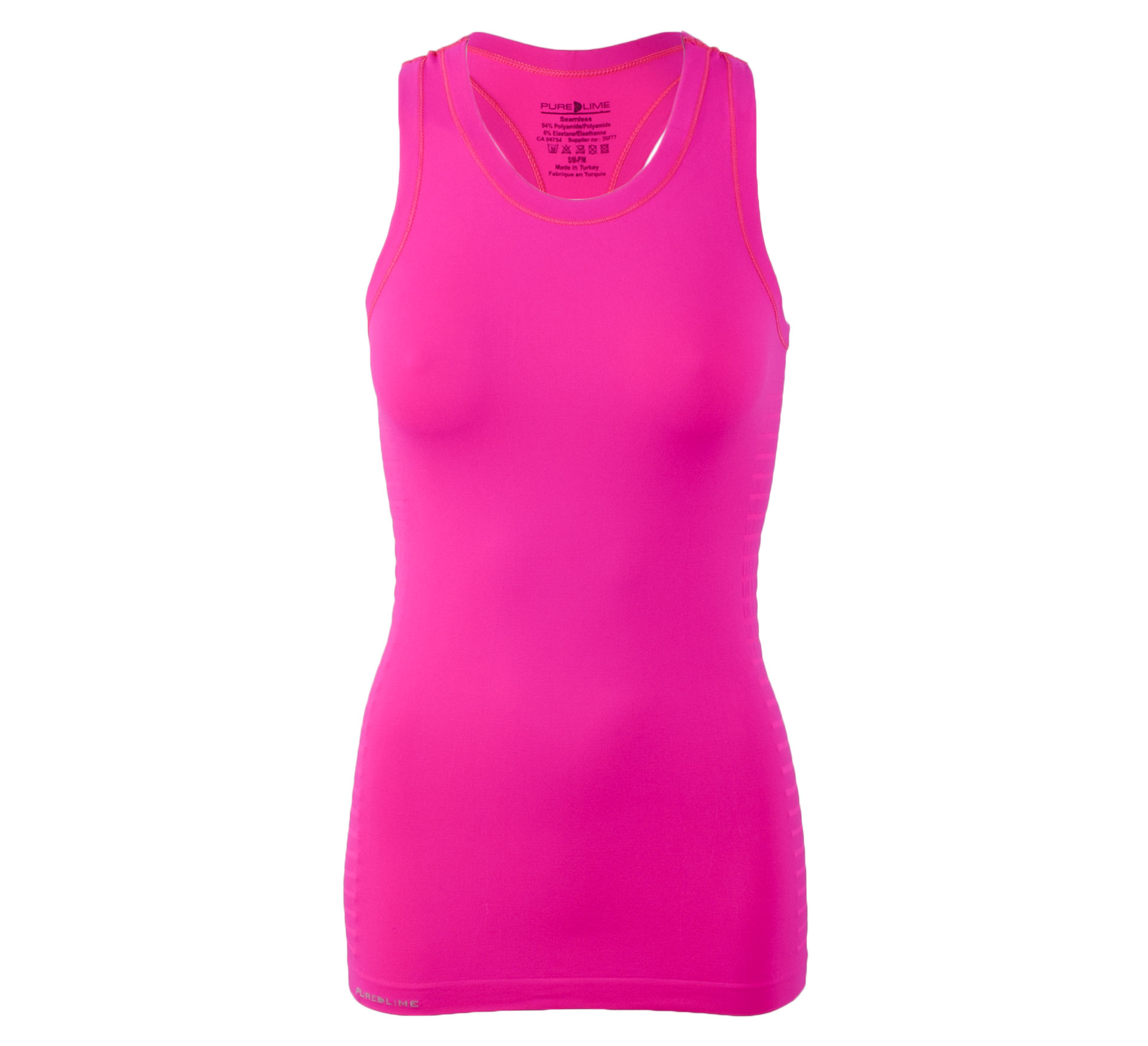 Pure Lime Naadloze Tanktop Dames roze