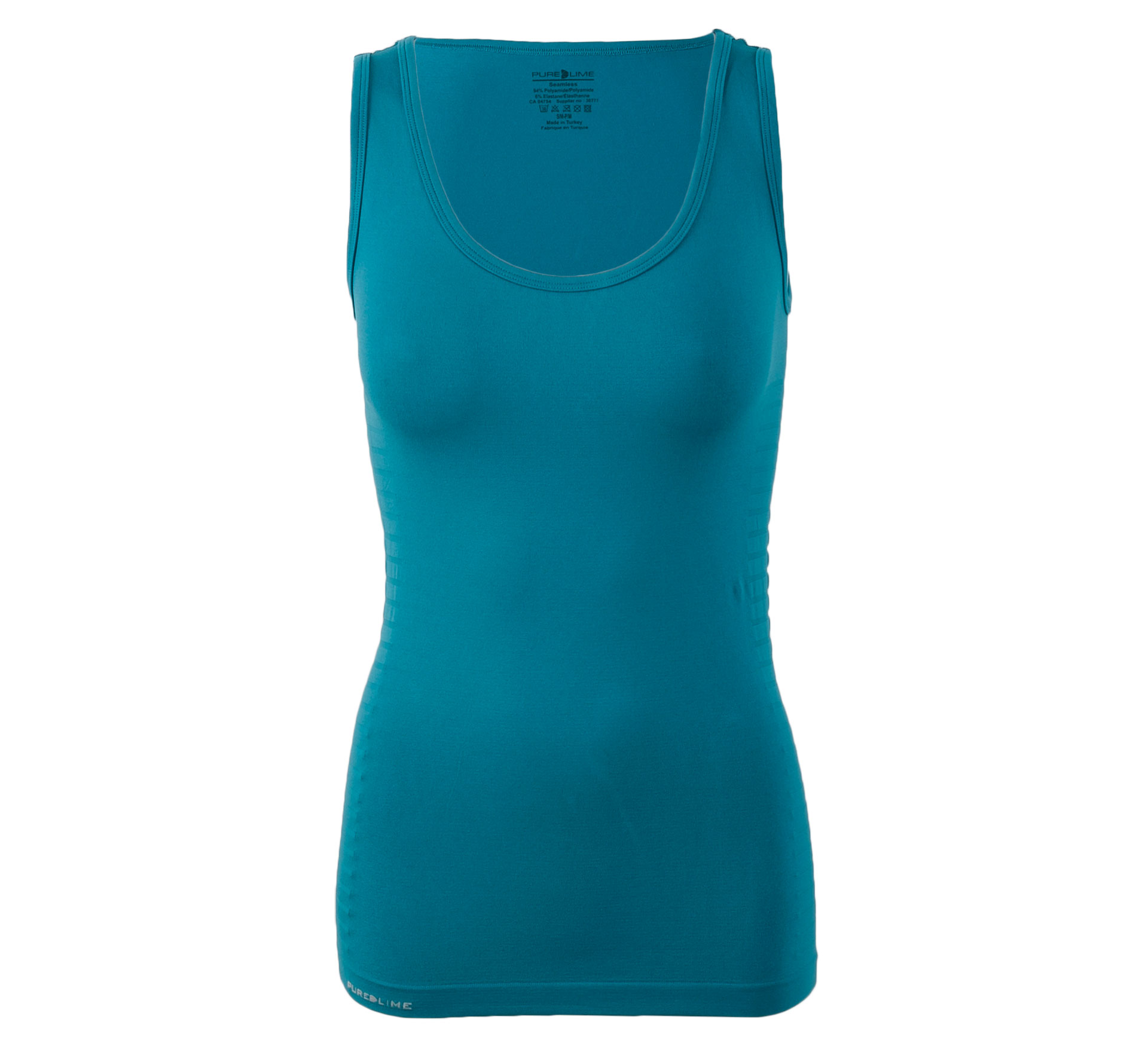 Pure Lime Naadloze Top Dames blauw/groen