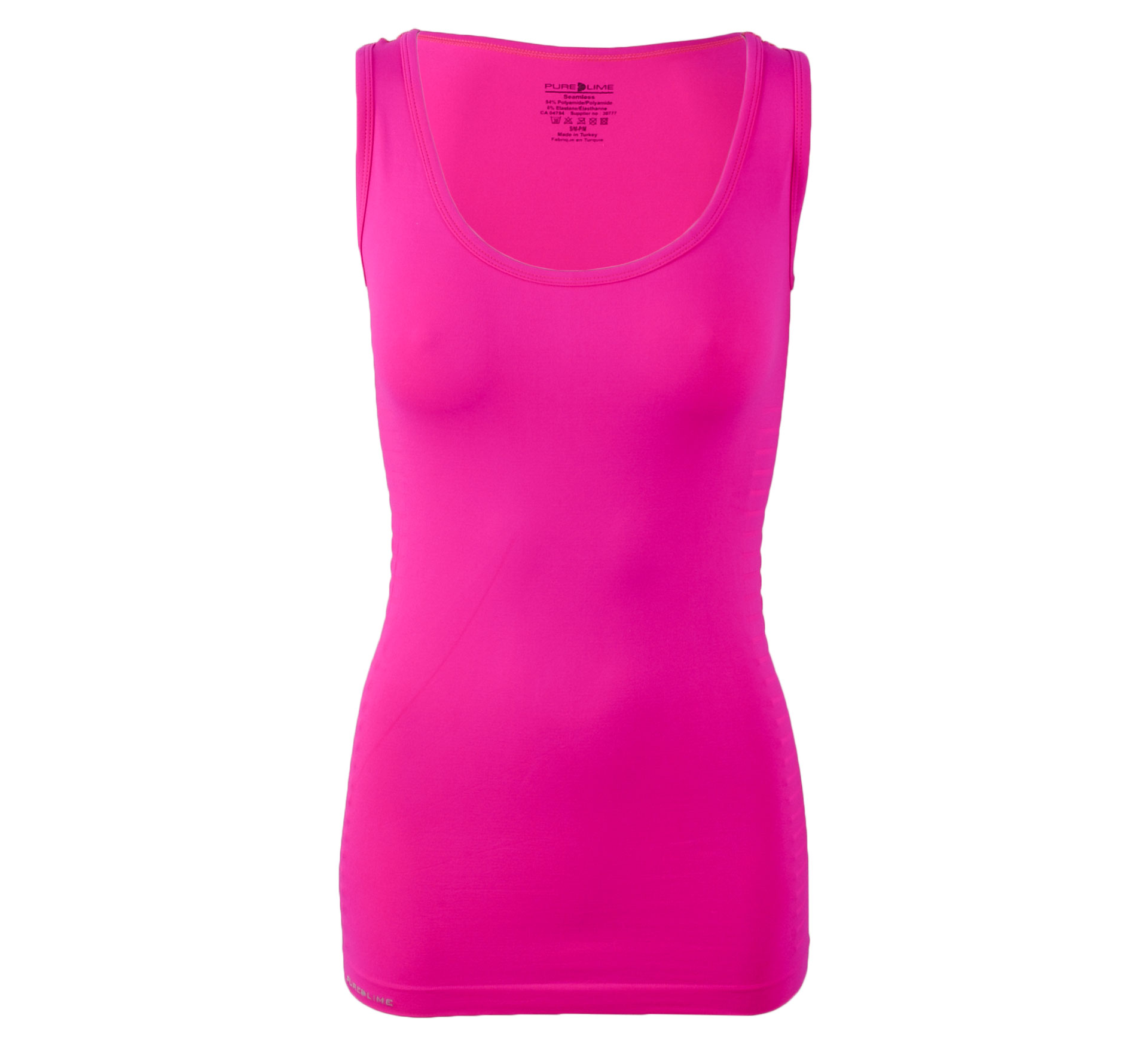 Pure Lime Naadloze Top Dames roze