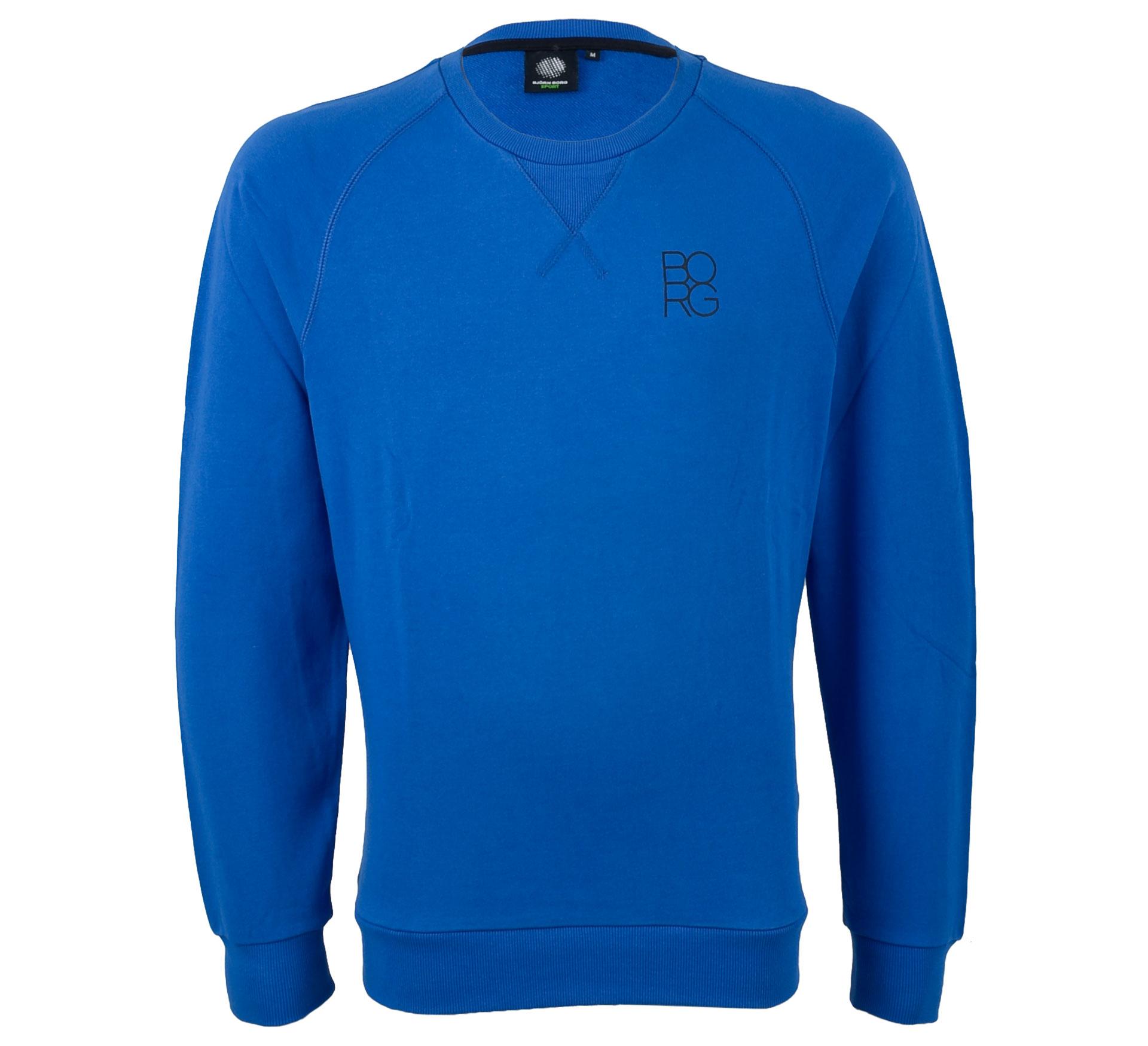 Bjorn Borg Björn Borg Boris Crew Sweater Heren blauw - zwart