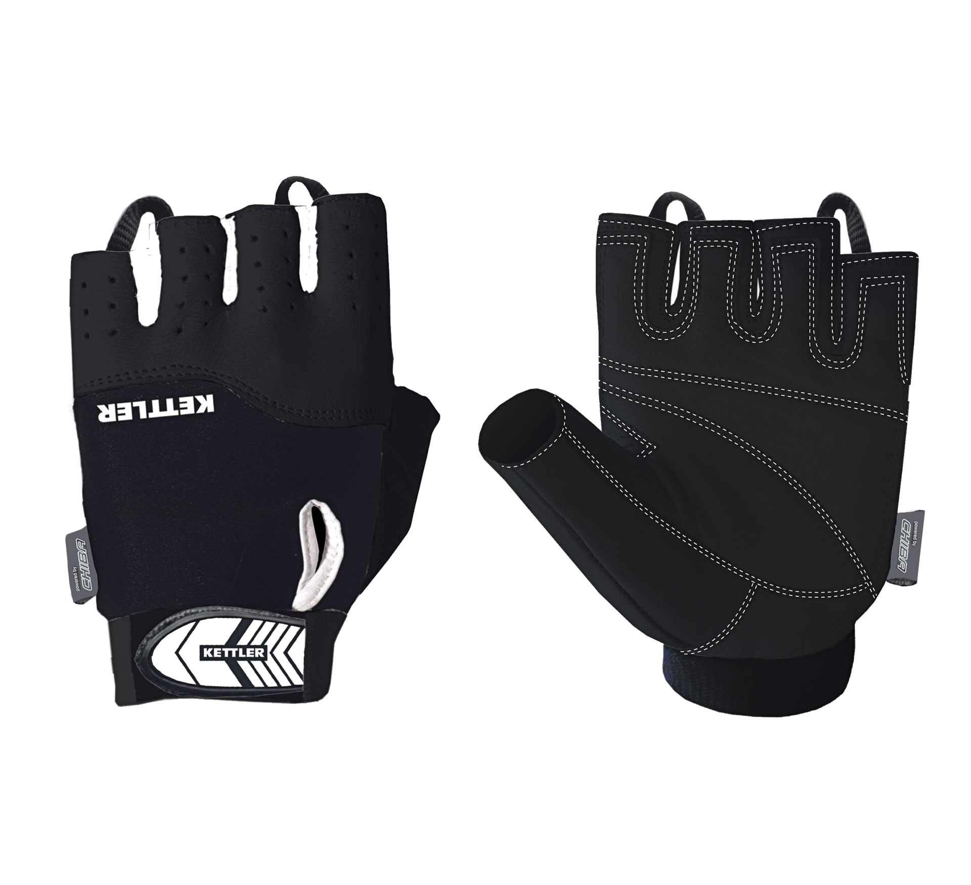 Kettler Trainings Gloves zwart - wit
