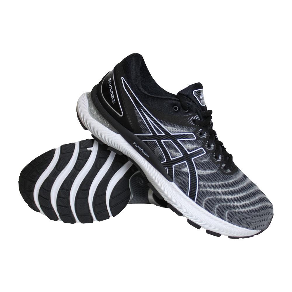 Asics Gel-Nimbus 22 hardloopschoenen heren zwart/wit