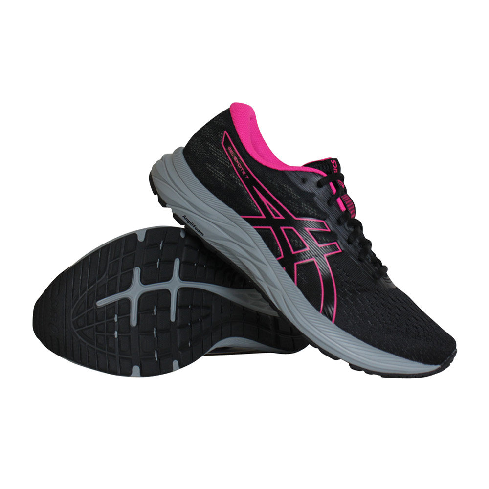 Asics Gel-Excite 7 hardloopschoenen dames zwart/roze