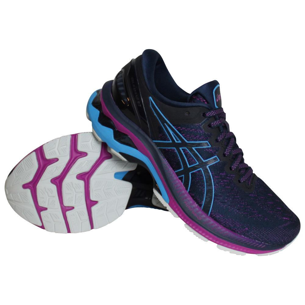 Asics Gel-Kayano 27 hardloopschoenen dames donker blauw/roze