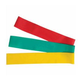 V-3 Tec Resistance fitnessbanden 3-pack rood/groen/geel
