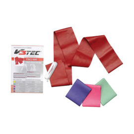 V3-Tec fitness stretch band extra strong 15x200 cm rood