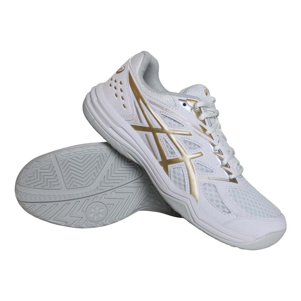 Asics Gel Upcourt indoorschoenen dames wit