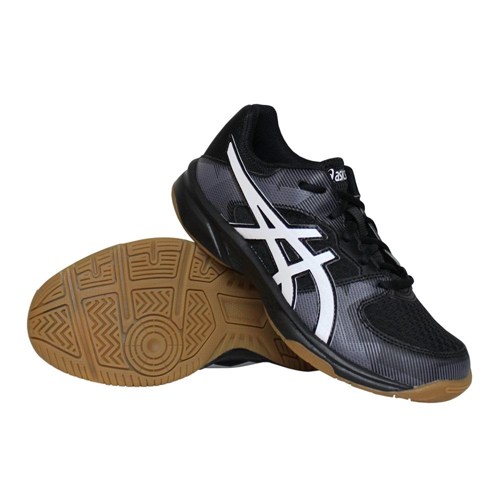 Asics Gel-Tactic GS indoorschoenen jongens zwart/wit