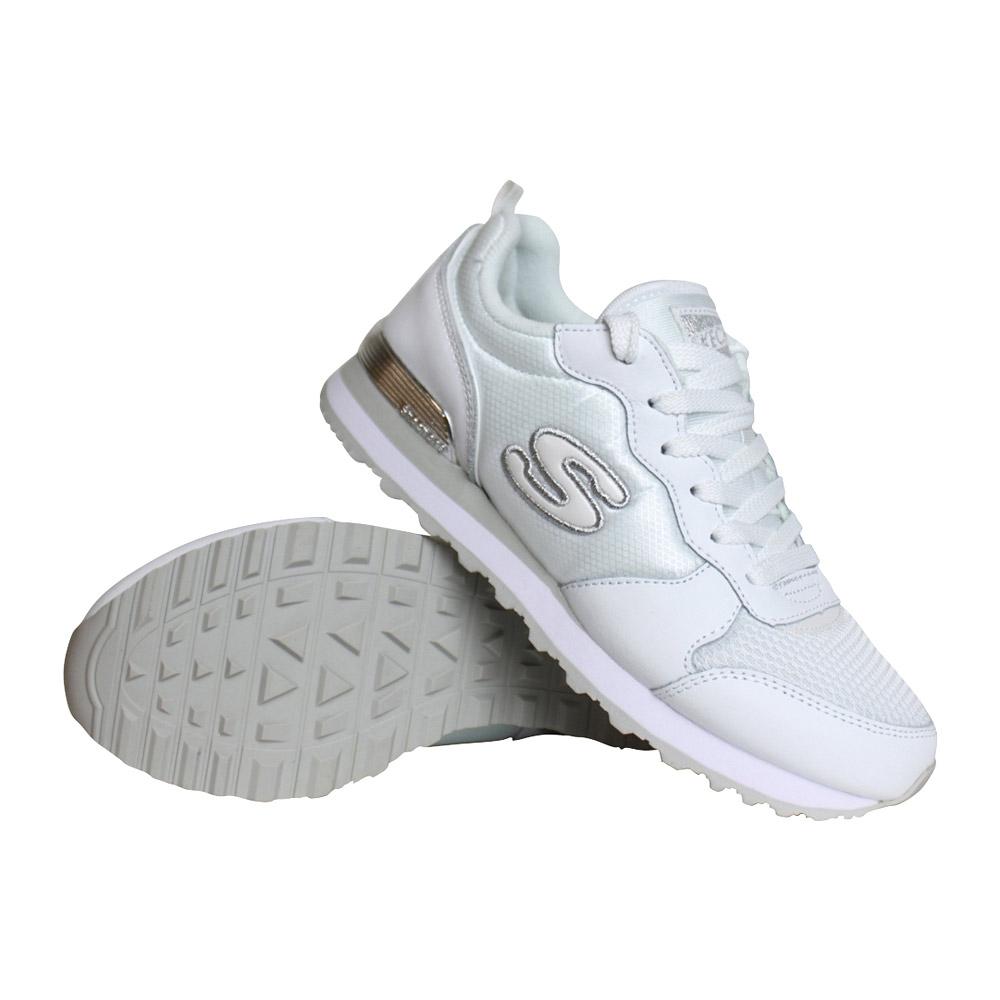 Skechers Retro Original sneakers dames wit/zilver