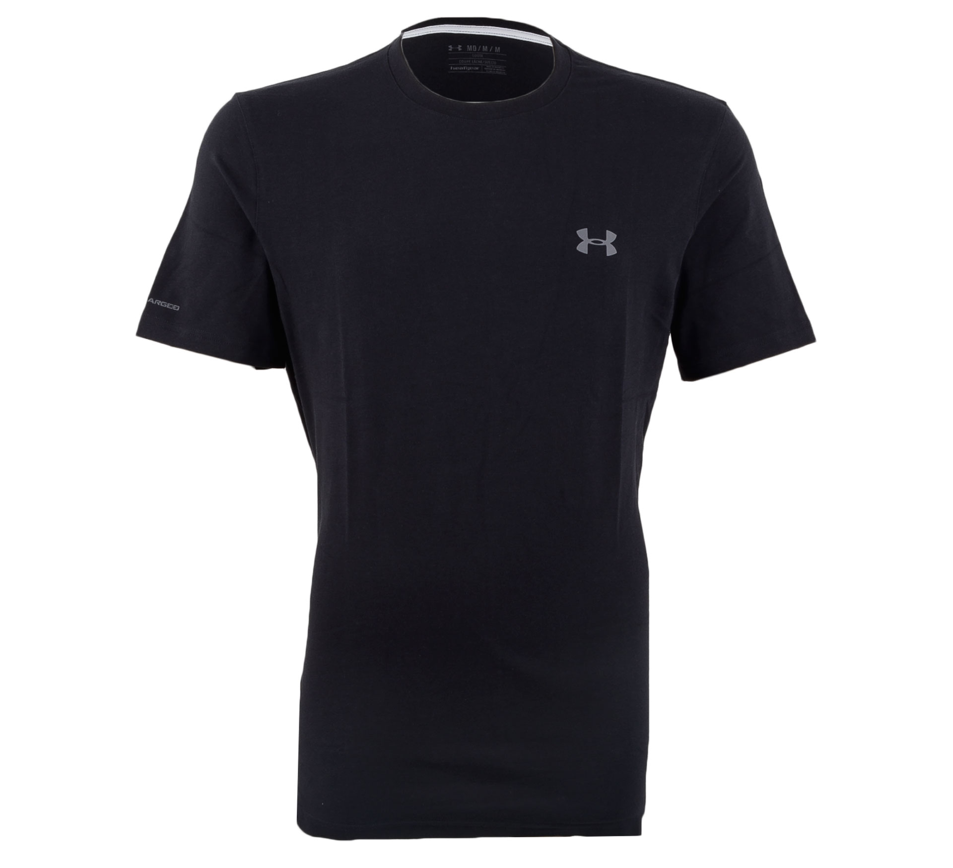 Under Armour Charged Cotton T-shirt Heren zwart