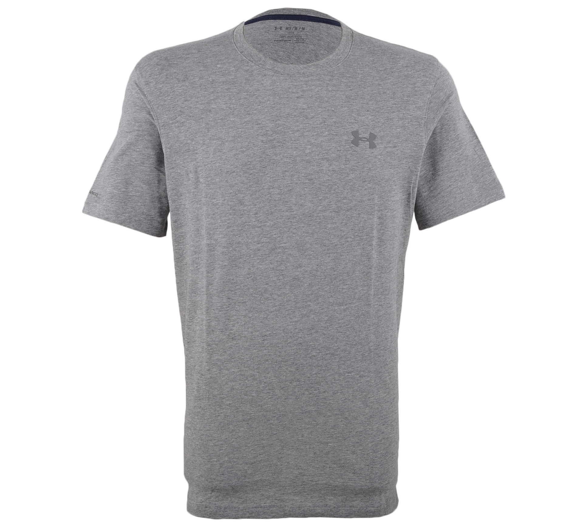 Under Armour Charged Cotton T-shirt Heren grijs