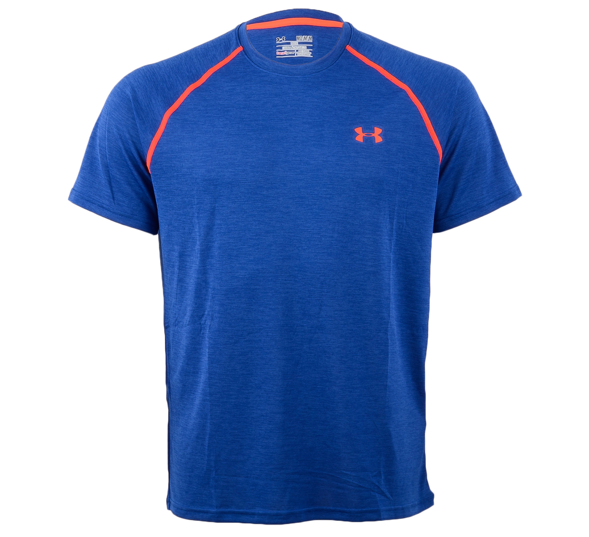 Under Armour HeatGear Loose Tech T-shirt blauw - rood