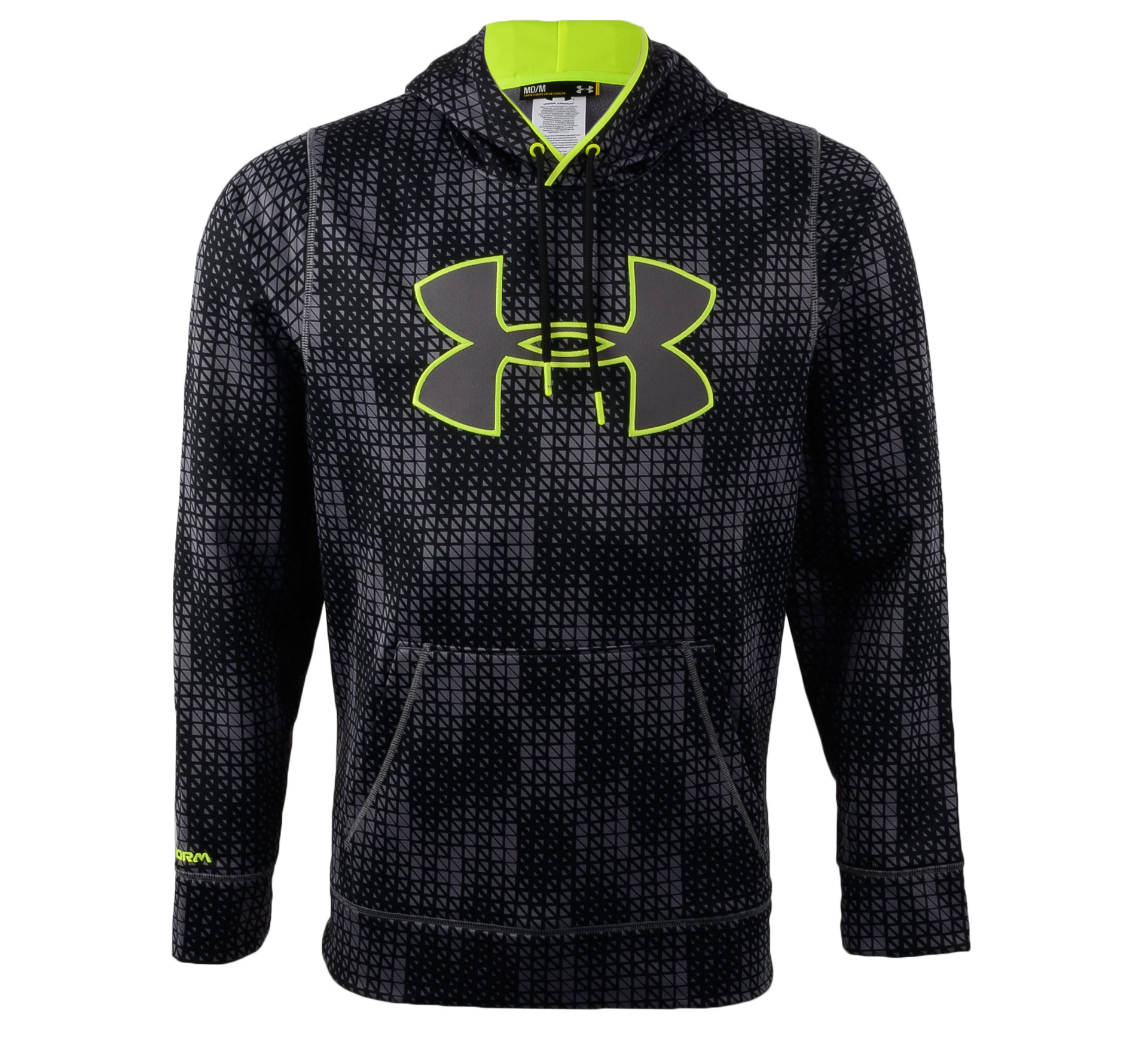 Under Armour  ColdGear Storm Blocks Hooded Sweater Heren zwart - grijs - geel