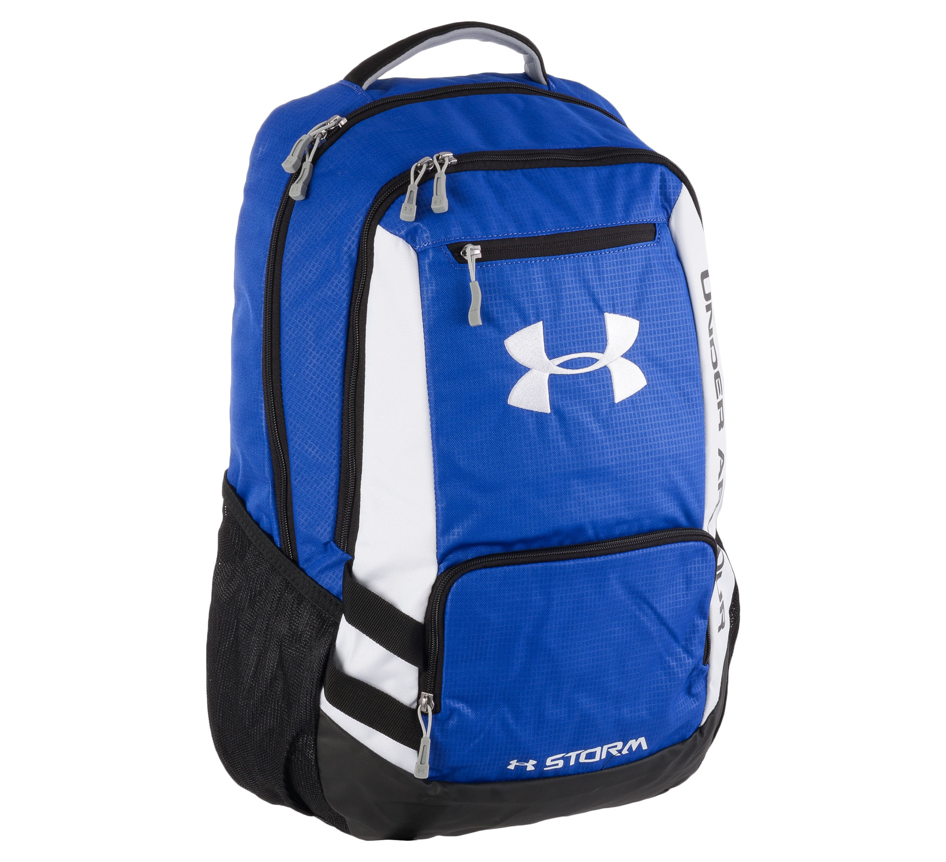 Under Armour Hustle Rugtas blauw - zwart - wit