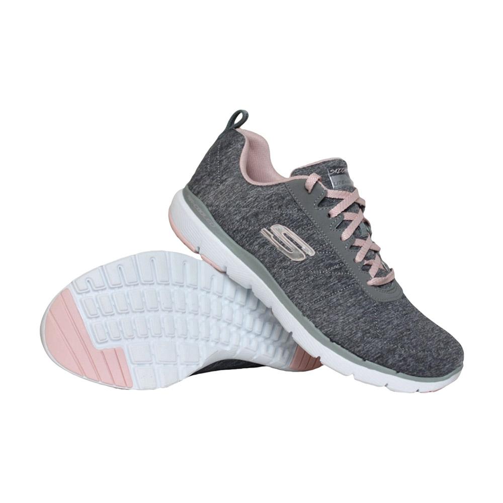 Skechers Flex Appeal 3.0 Insiders sneakers dames grijs/roze