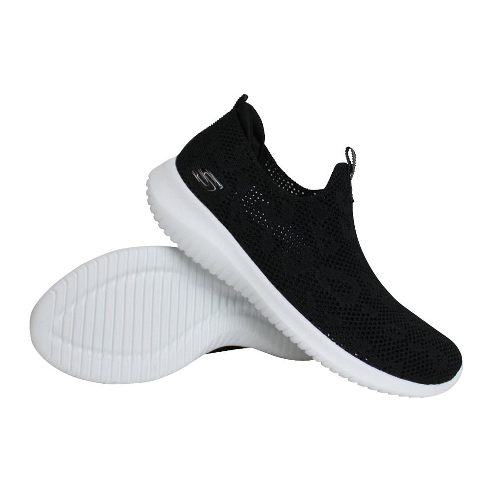 Skechers Ultra Flex Fast Talker sneakers dames zwart/wit