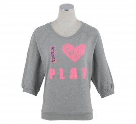 Only Play Erin Love Sweater Dames grijs