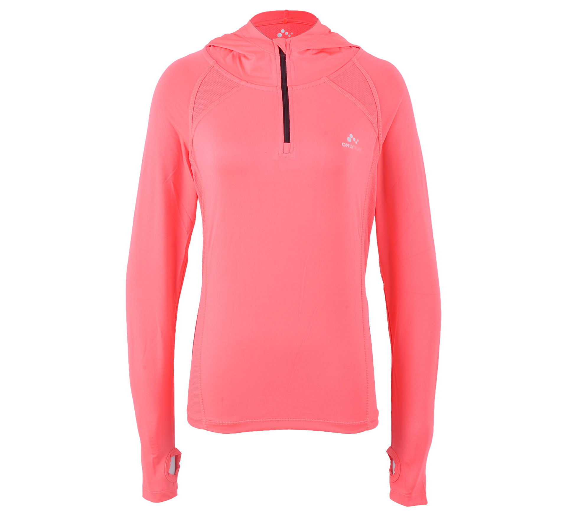 Only Play  Catherine Hooded Training Shirt Dames roze