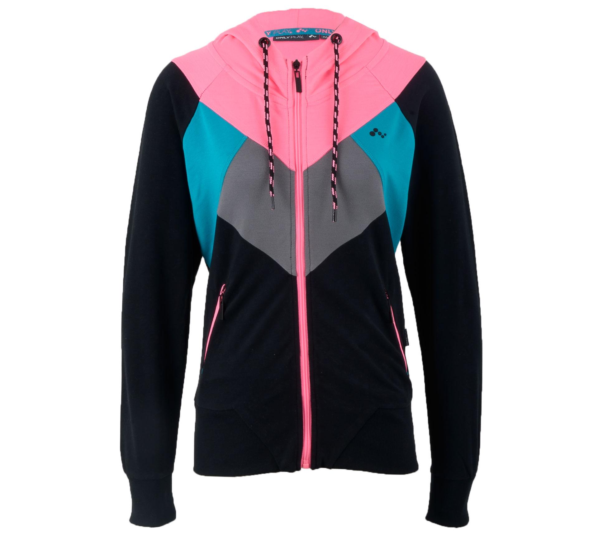 Only Play Renee Sweatvest Dames zwart - roze - grijs - blauw