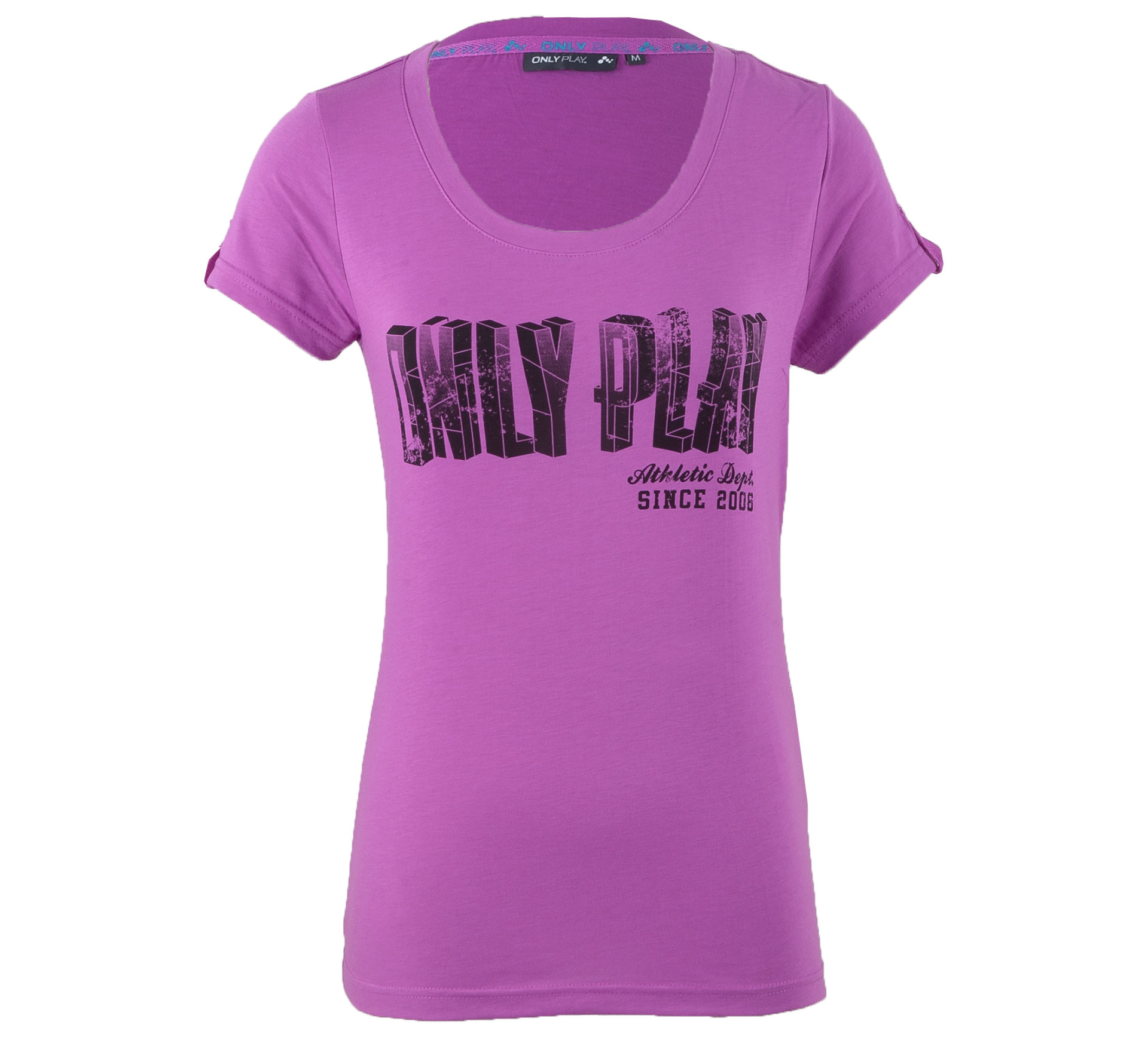 Only Play Alix T-shirt Dames donker roze - zwart