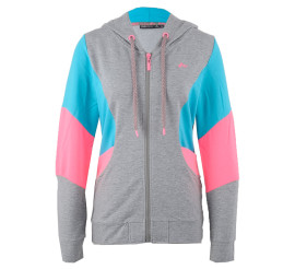 Only Play Theo Sweatvest Dames grijs - blauw - roze