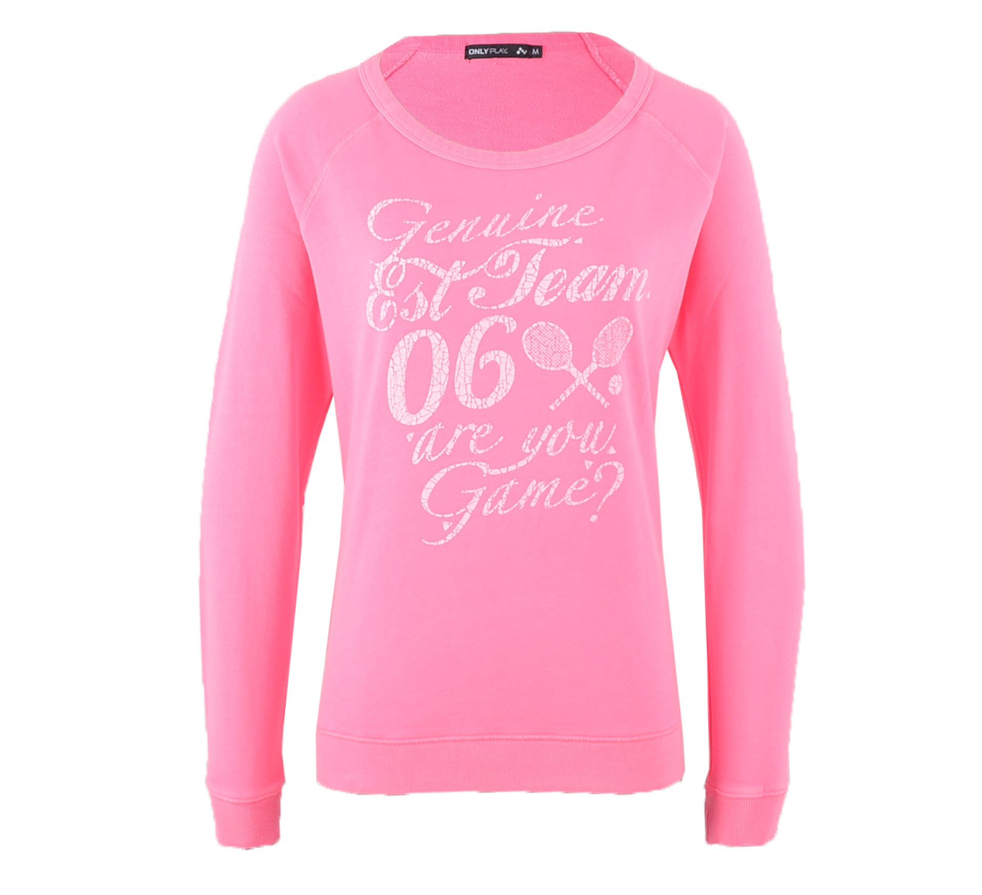 Only Play Kia Boat Neck Sweater Dames roze - wit