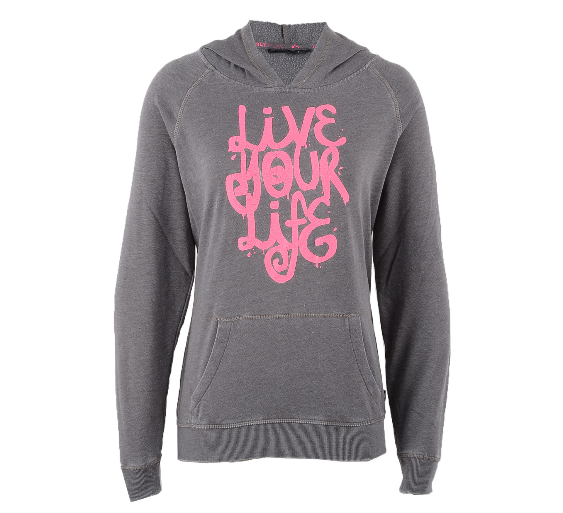 Only Play  Asta Brushed Sweater Dames grijs - roze
