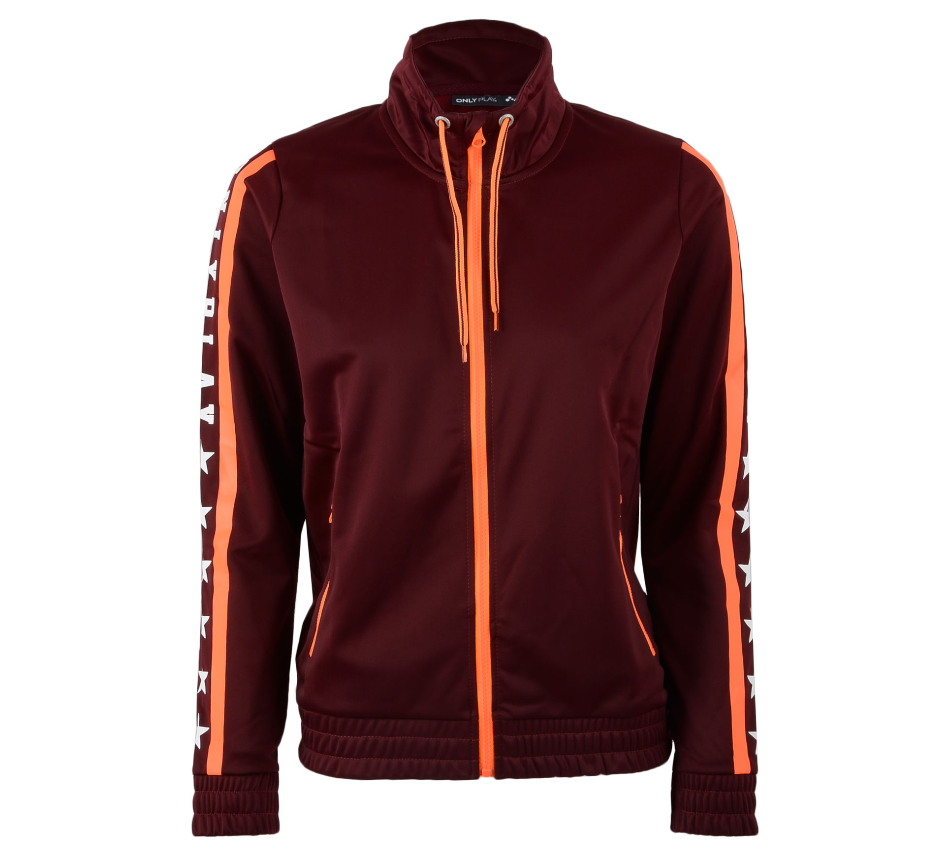 Only Play Yvette Sweat Vest Dames rood - oranje - wit