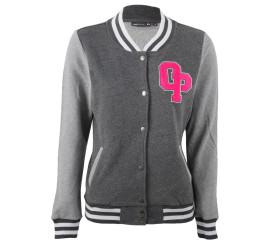 Only Play Sylvia Varsity Sweat Vest Wms grijs - roze - wit