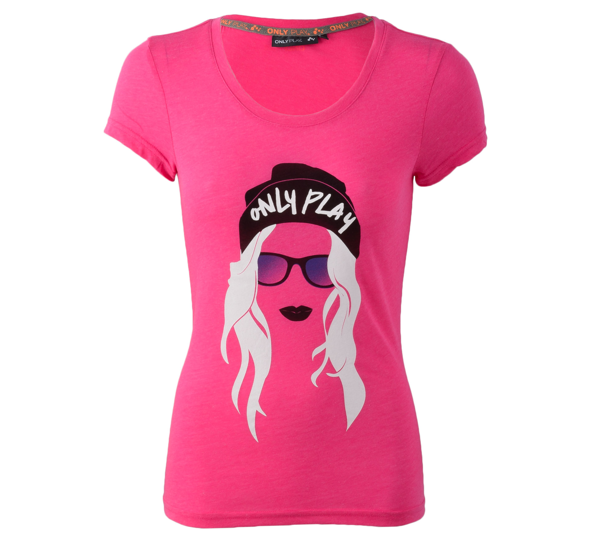 Only Play Andrea T-shirt Dames roze