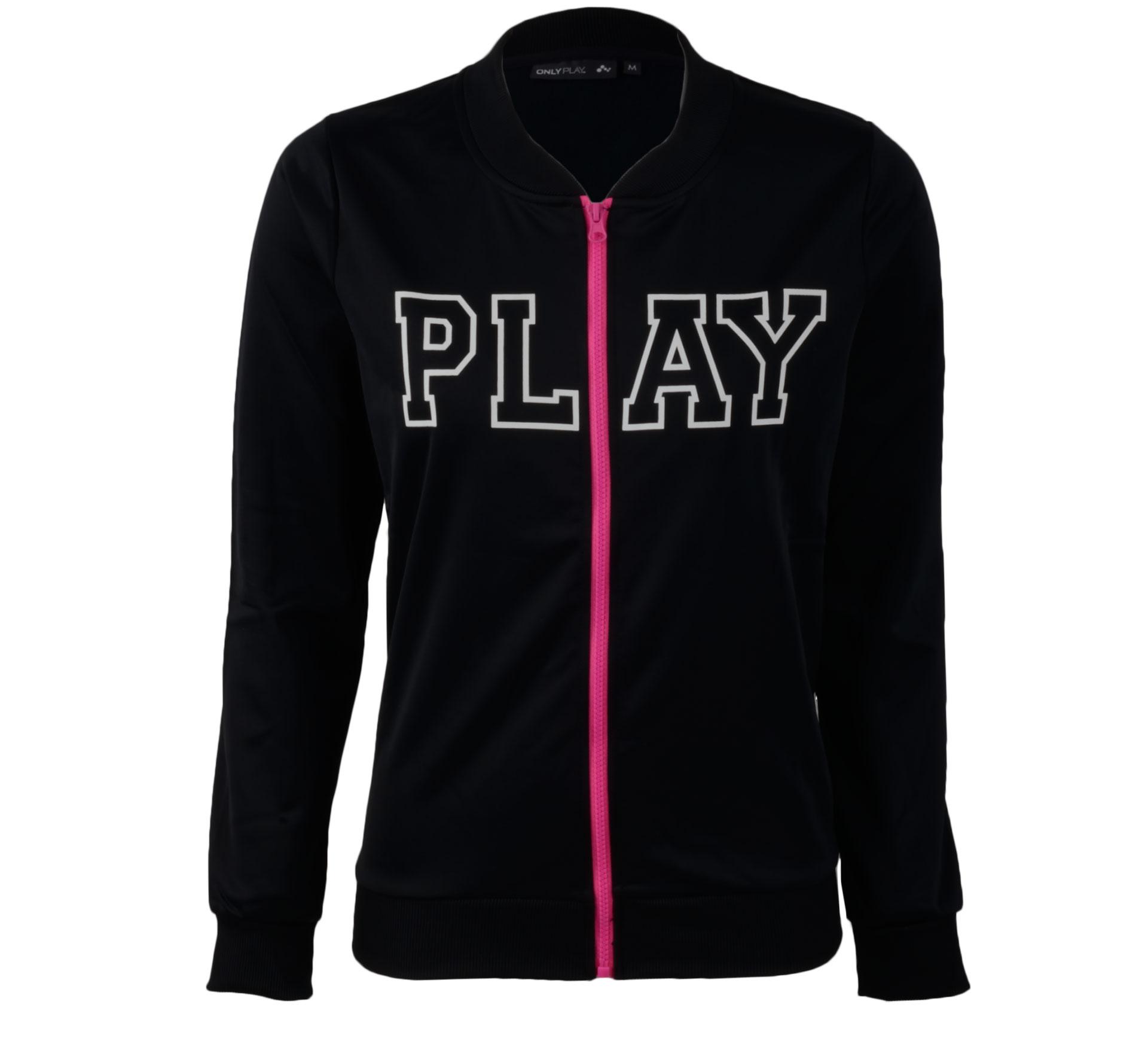 Only Play  Julia Sweatvest Dames zwart - wit - roze