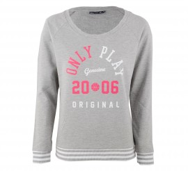 Only Play Georgina Sweater Dames grijs - roze - wit