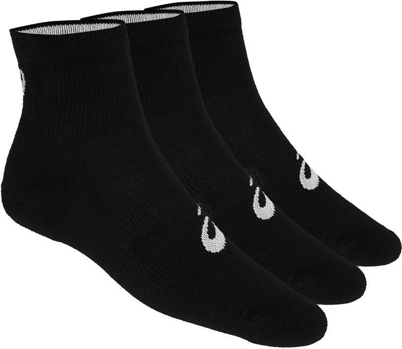Asics half hoge sokken 3 paar heren zwart