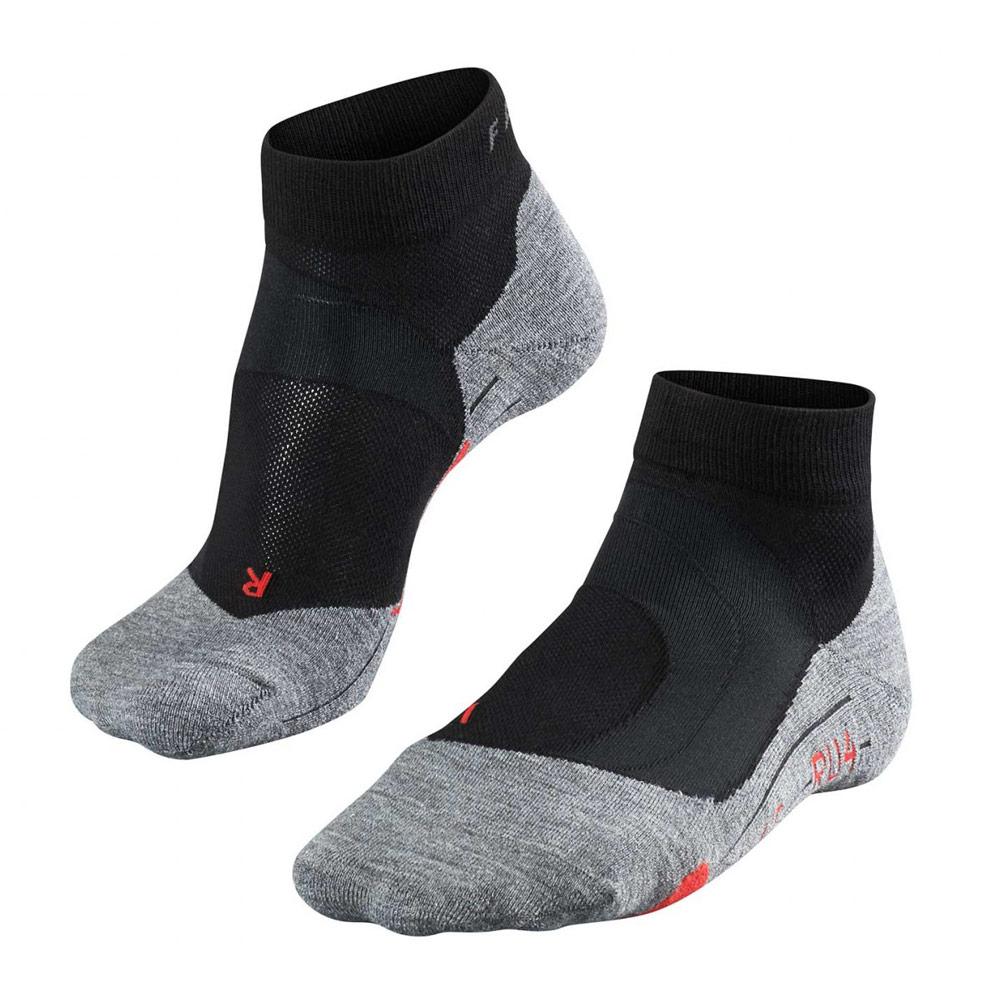 Falke RU4 Cushion short hardloopsokken dames zwart/grijs/rood