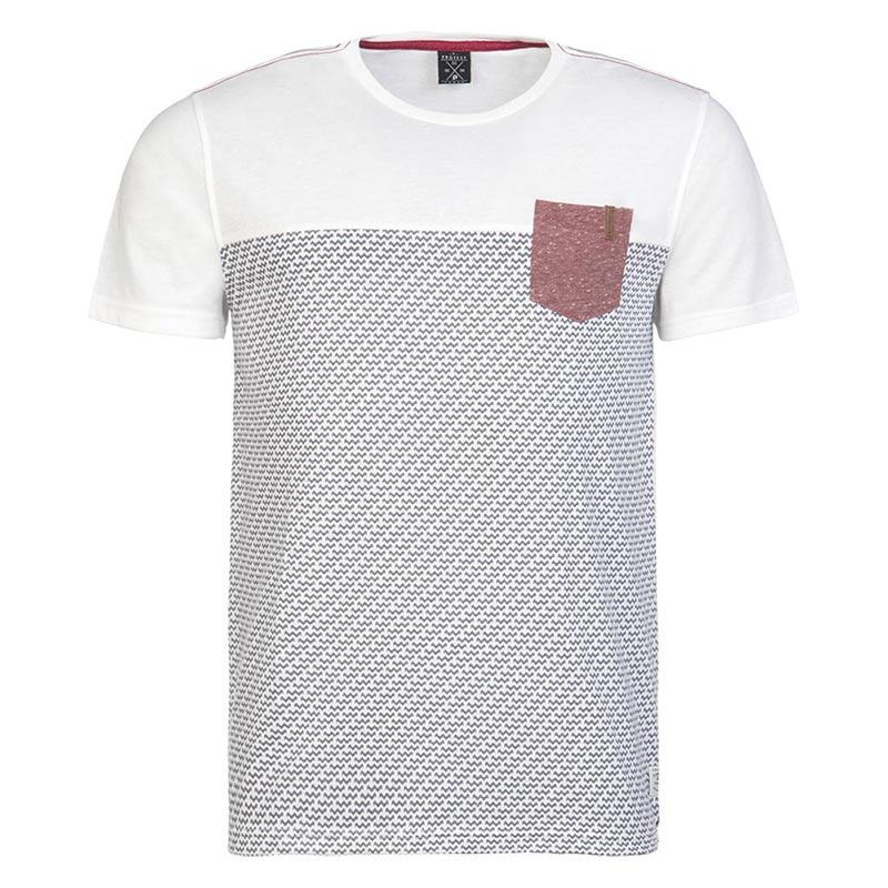 Protest Damien shirt heren wit/antraciet