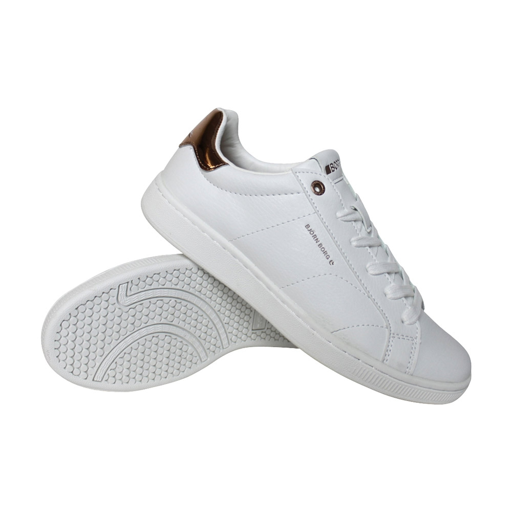 Björn Borg T305 Low CLS sneakers dames wit/goud