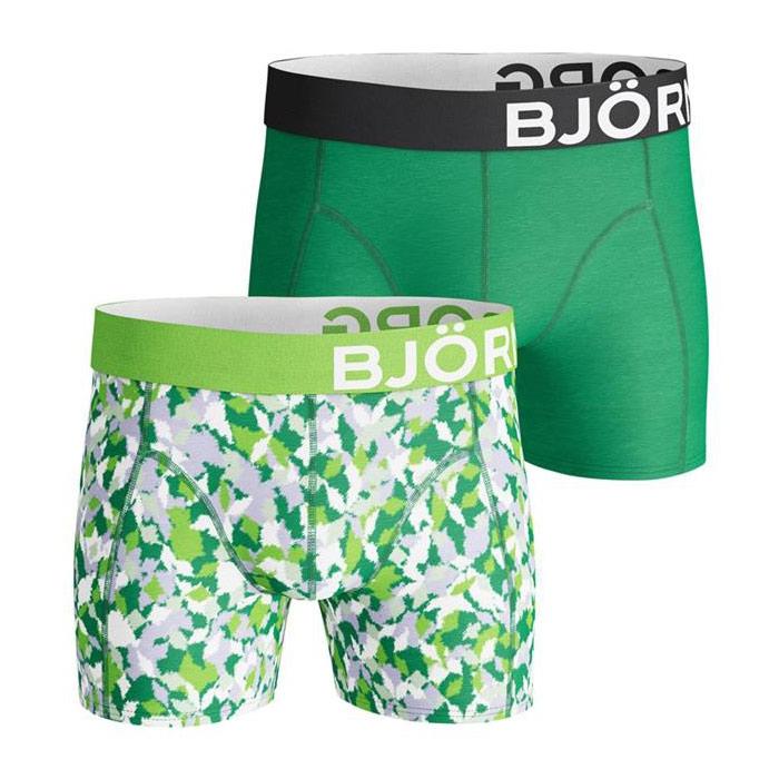 Björn Borg Abstract Animal boxershorts 2-pack heren groen/zwart