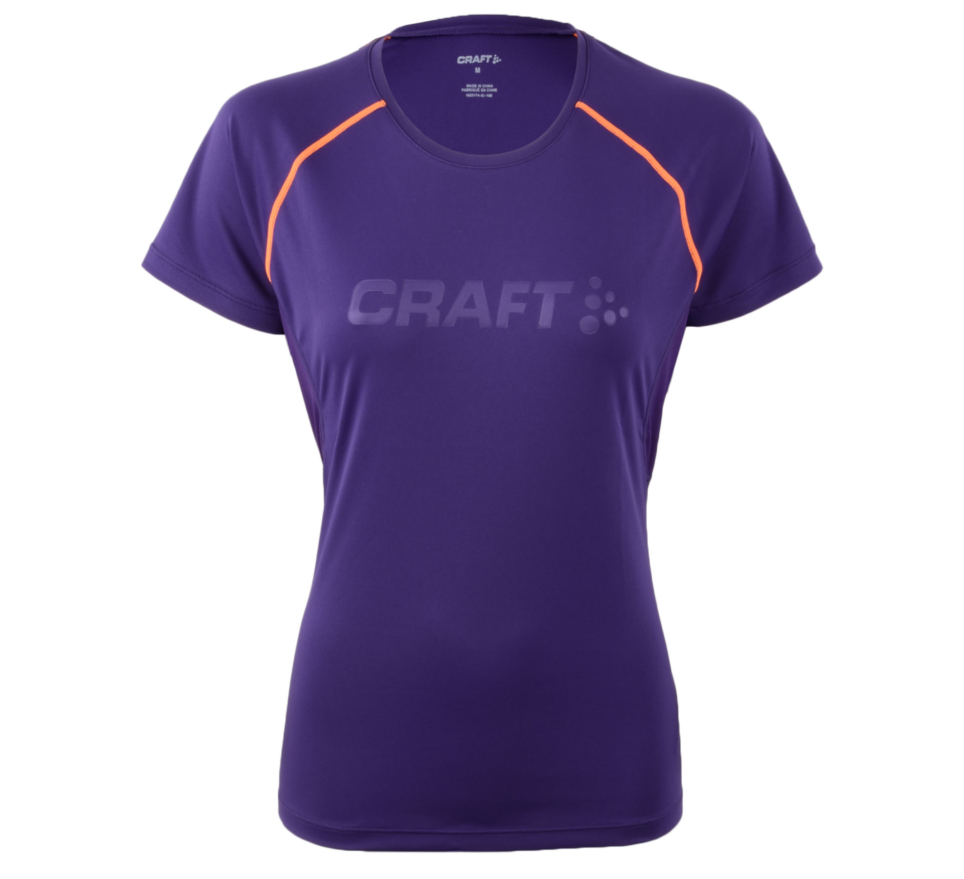 Craft  Prime SS Tee paars - oranje
