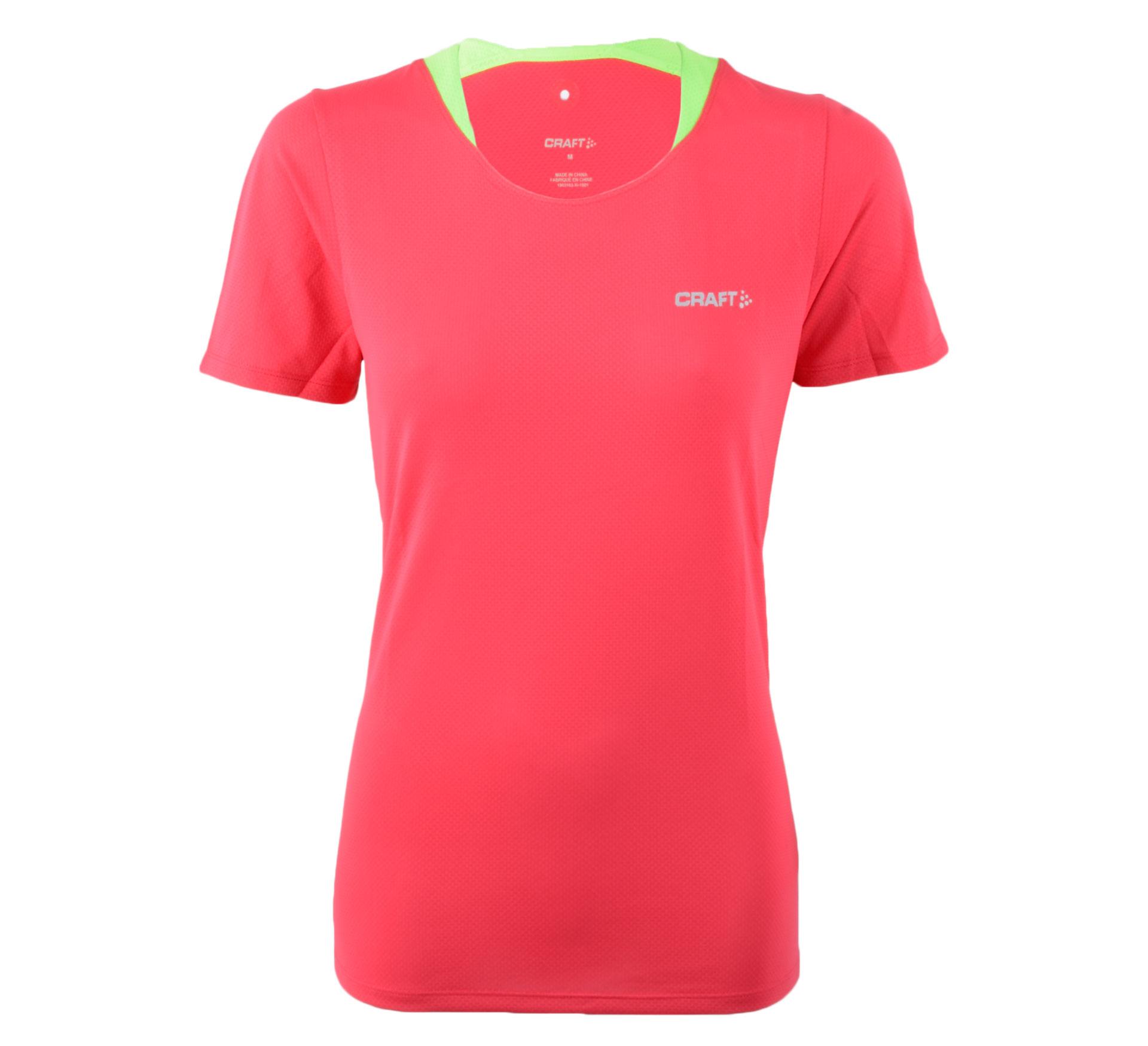 Craft  Joy SS Shirt W roze - groen