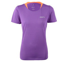 Craft  Joy SS Shirt W paars - oranje