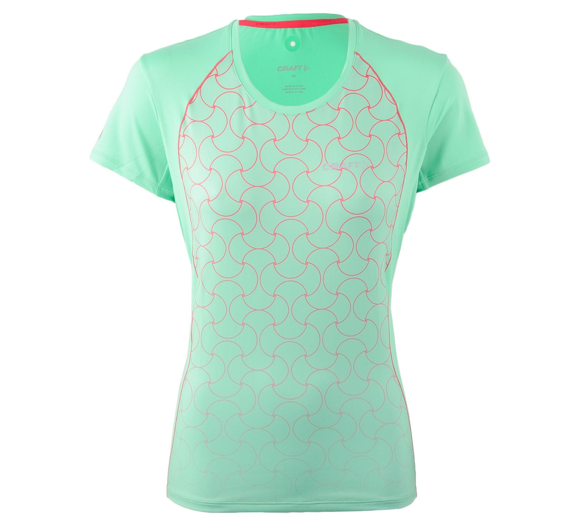 Craft Focus Cool SS Shirt W groen - roze