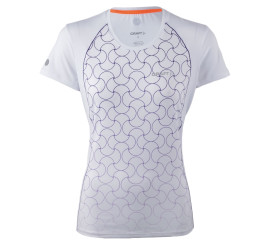 Craft  Focus Cool SS Shirt W wit - paars