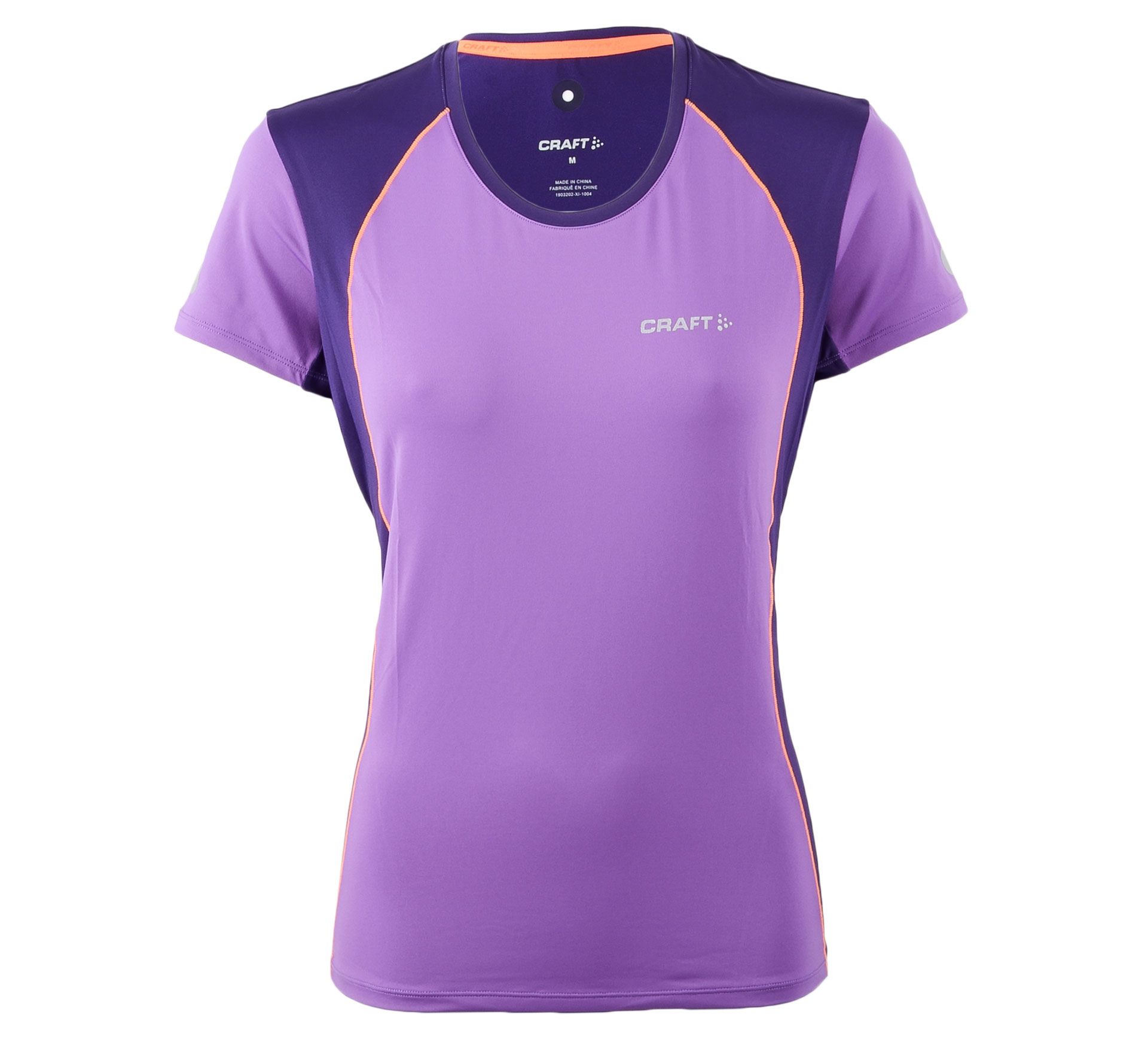Craft  Focus Cool SS Shirt W paars - oranje