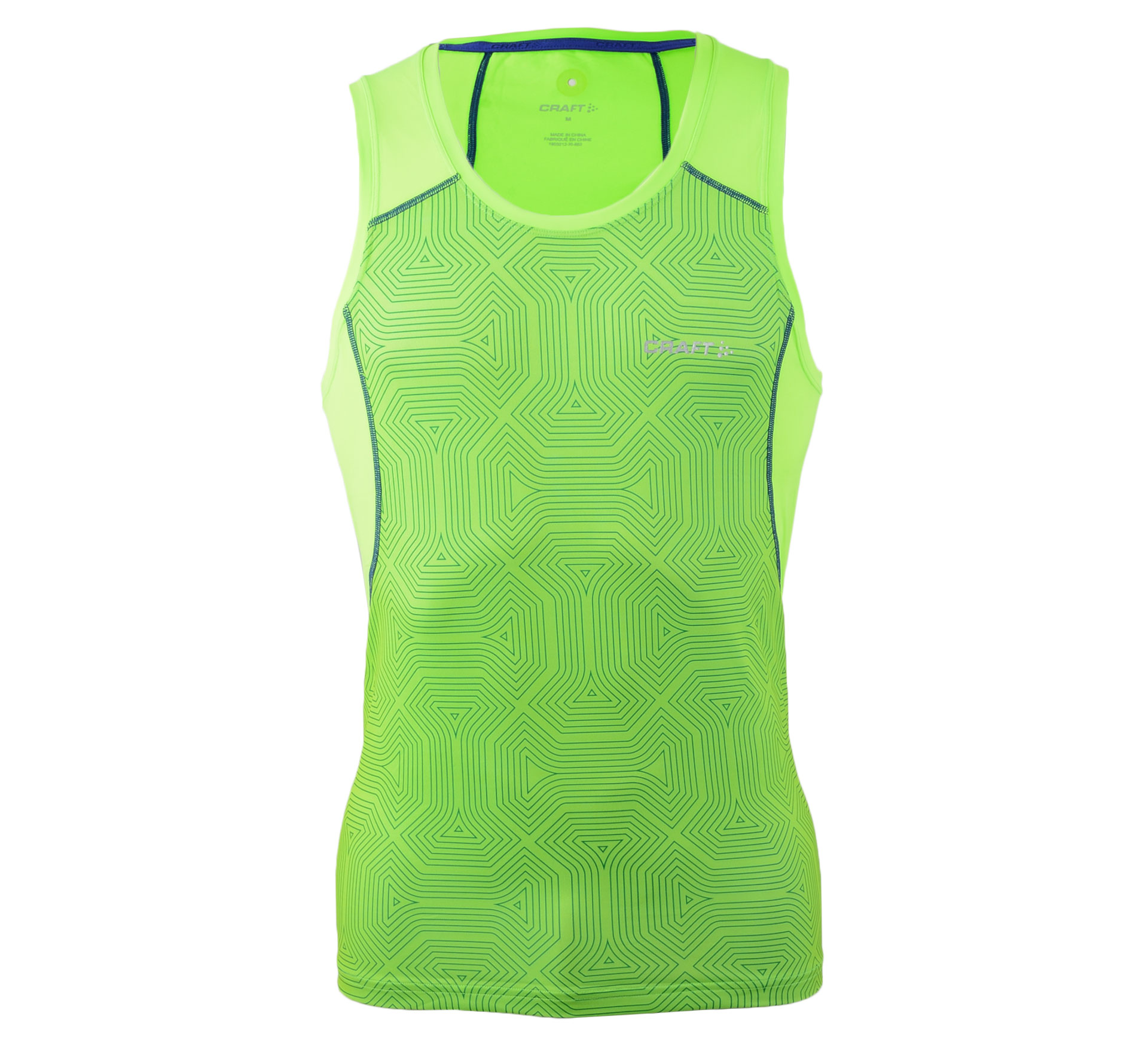 Craft  Focus Cool Sublimated Singlet groen - donker blauw