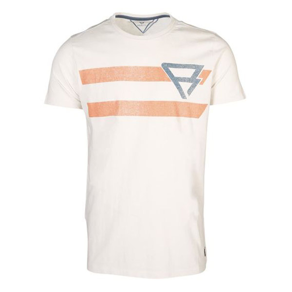 Brunotti Bart shirt heren wit/oranje