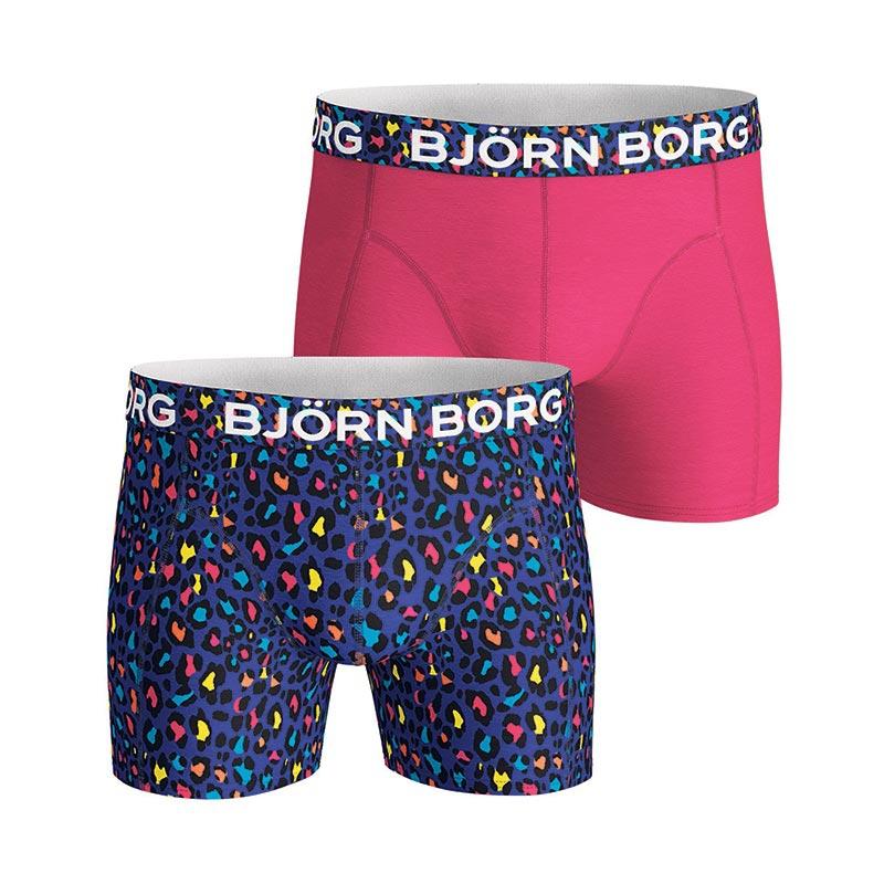 Björn Borg Energy Leo boxershorts 2-pack heren blauw/roze