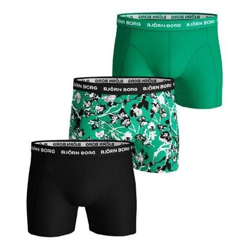 Björn Borg Fleur de Jardin Sammy boxershorts 3-pack heren groen/zwart