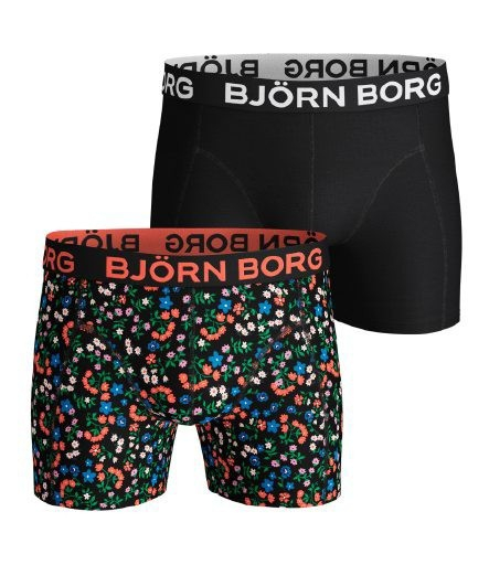 Björn Borg Meadow Sammy boxershorts 2-pack heren zwart/print