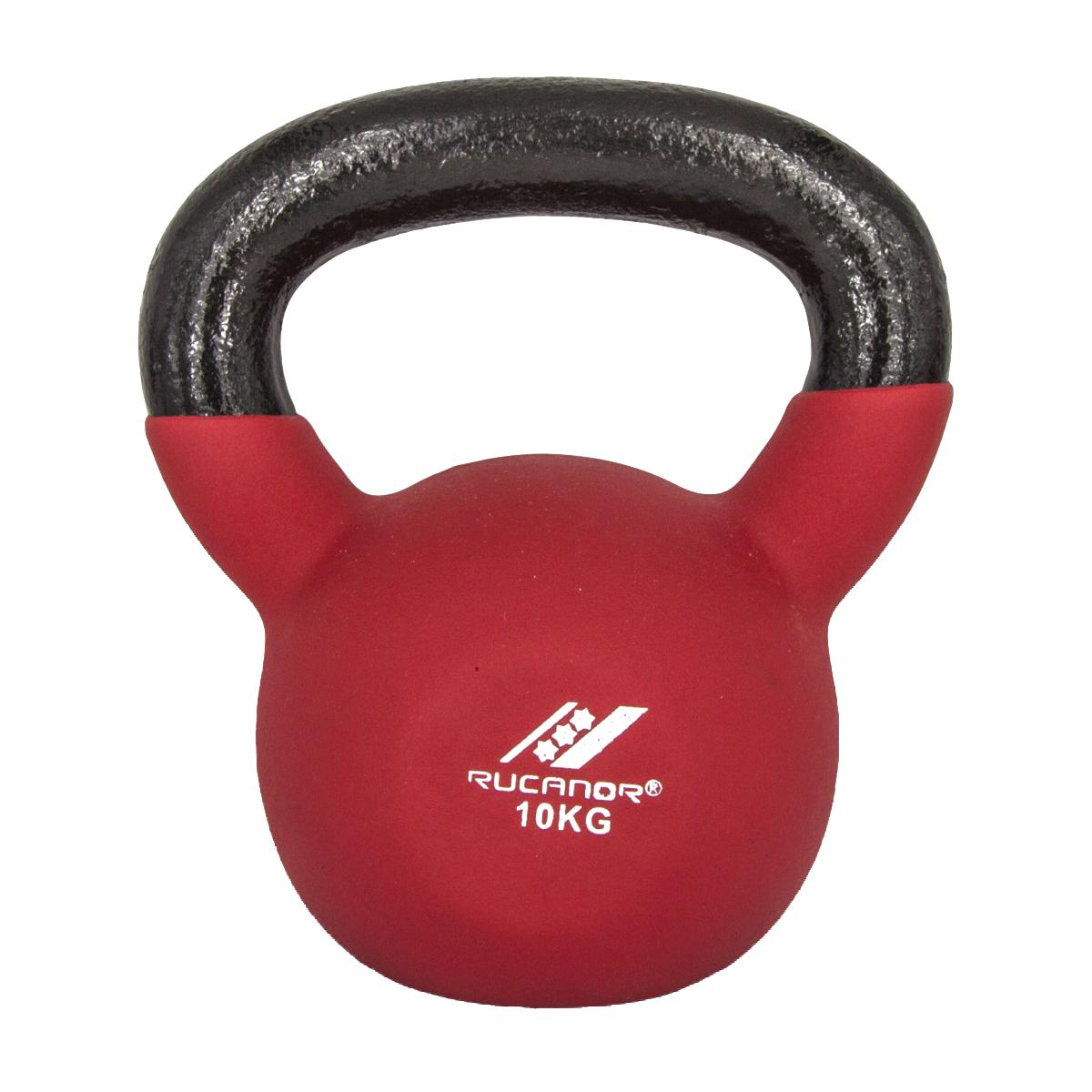 Rucanor Neoprene Kettle Bell 10 kg - Rood