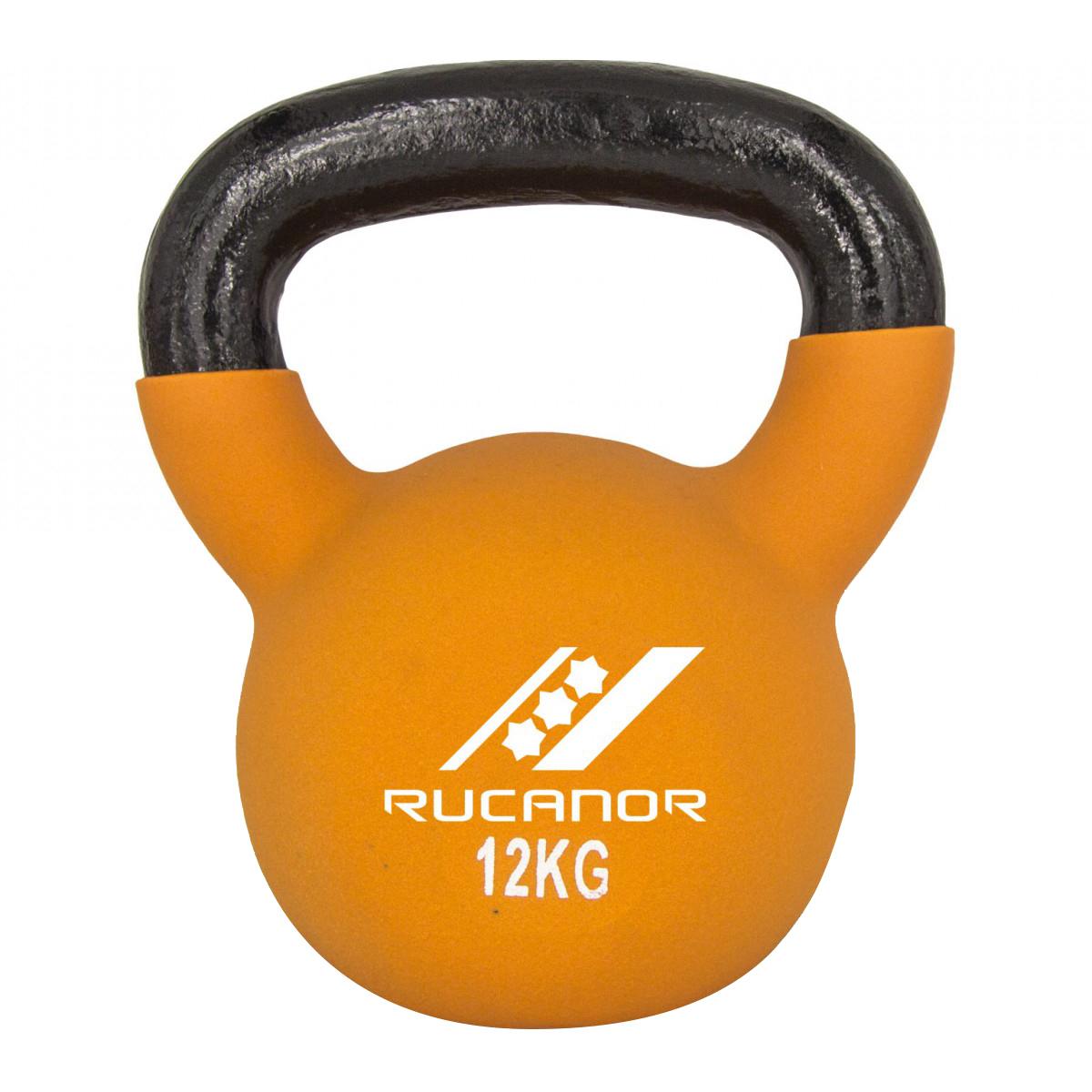 Rucanor Neoprene Kettle Bell 12 kg - Zwart